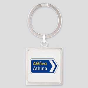Athens, Greece Square Keychain