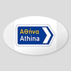 Athens, Greece Sticker (Oval)