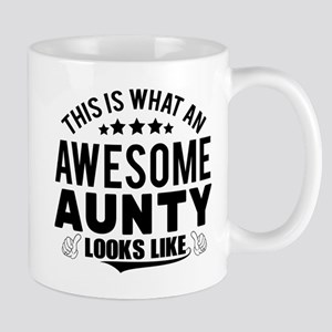THIS IS WHAT AN AWESOME AUNTY LOOKS LIKE Mugs
