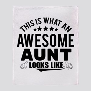 THIS IS WHAT AN AWESOME AUNT LOOKS LIKE Throw Blan