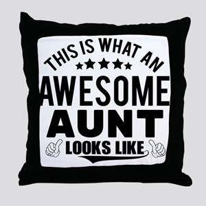 THIS IS WHAT AN AWESOME AUNT LOOKS LIKE Throw Pill