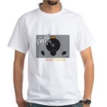 White T-Shirt: Vintage Radio Front/back
