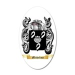 Michelino 20x12 Oval Wall Decal