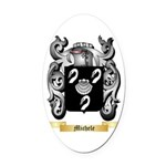 Michele Oval Car Magnet