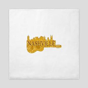 Nashville Skyline Guitar-02 Queen Duvet