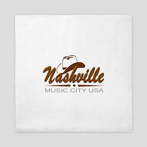 Nashville Music City USA-02 Queen Duvet