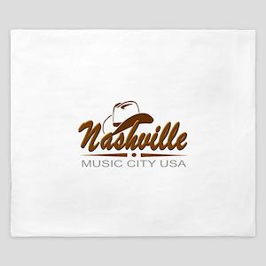 Nashville Music City USA-02 King Duvet