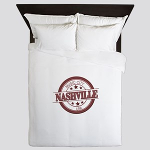 Nashville Music City-CIR Queen Duvet