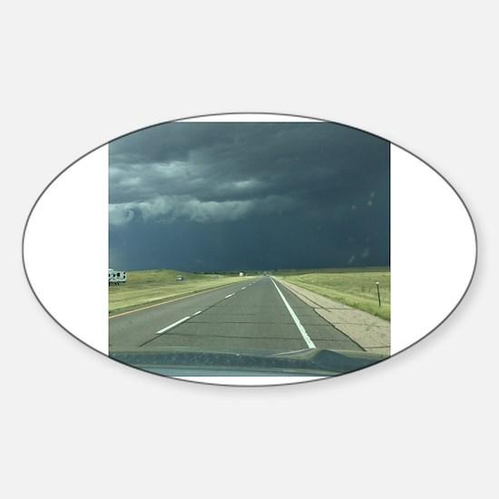 Unique Storm spotting Sticker (Oval)