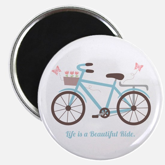 Life is a Beautiful Ride Bicycle Quote Magnets