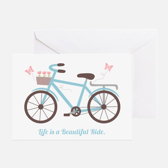 Life is a Beautiful Ride Bicycle Quote Greeting Ca