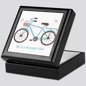 Life is a Beautiful Ride Bicycle Quote Keepsake Bo