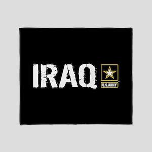 U.S. Army: Iraq (Black) Throw Blanket