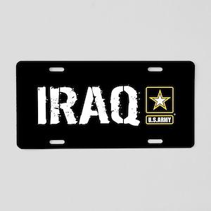 U.S. Army: Iraq (Black) Aluminum License Plate