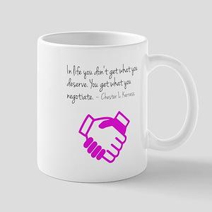 Negotiate. Mugs