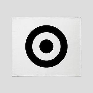 Black Mod Target Throw Blanket