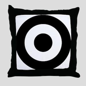 Black Mod Target Throw Pillow