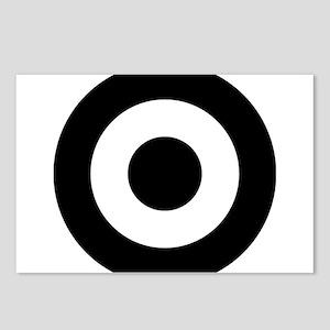 Black Mod Target Postcards (Package of 8)