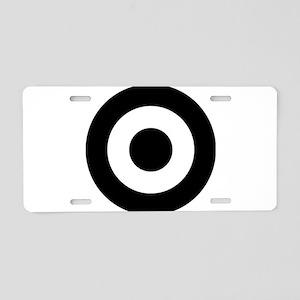 Black Mod Target Aluminum License Plate