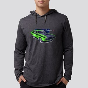 Dodge Challenger Green Car Long Sleeve T-Shirt