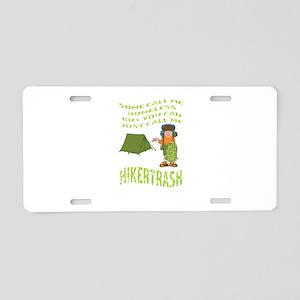 Hiker Trash Aluminum License Plate