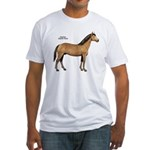 American Quarter Horse (Front) Fitted T-Shirt