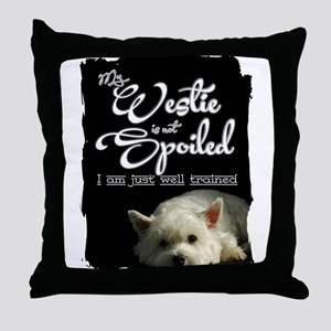 Spoiled? Never! Throw Pillow
