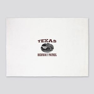 Texas Highway Patrol 5'x7'Area Rug