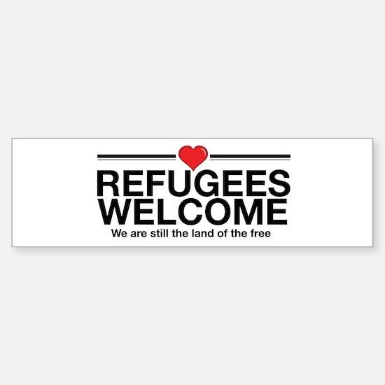 Refugees Welcome Bumper Bumper Bumper Sticker