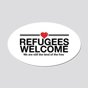 Refugees Welcome Wall Decal