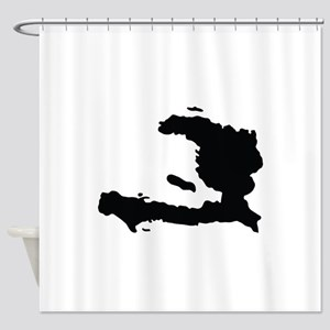 Haiti Silhouette Shower Curtain