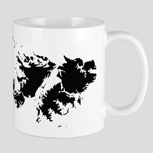 Falkland Islands Silhouette Mugs