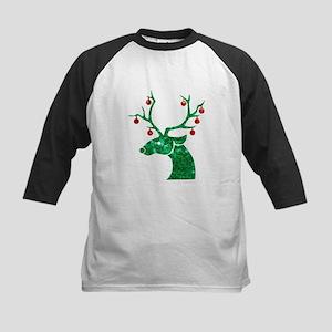 sequin christmas reindeer Baseball Jersey