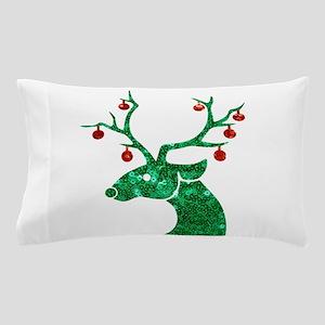 sequin christmas reindeer Pillow Case