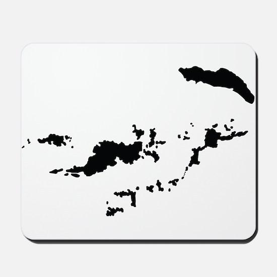 British Virgin Islands Silhouette Mousepad