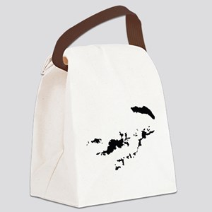 British Virgin Islands Silhouette Canvas Lunch Bag