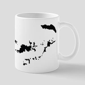British Virgin Islands Silhouette Mugs