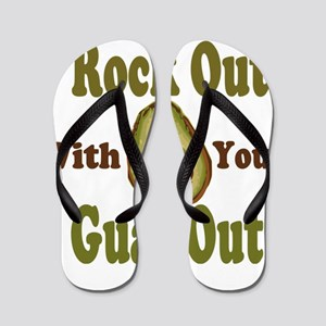Rock Out With Your Guac Out Flip Flops