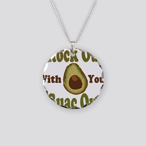Rock Out With Your Guac Out Necklace Circle Charm