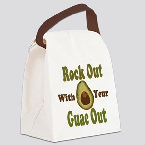 Rock Out With Your Guac Out Canvas Lunch Bag