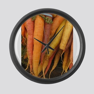 an assortment of long organic car Large Wall Clock