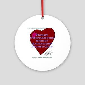 Shiner Awareness Ornament (Round)