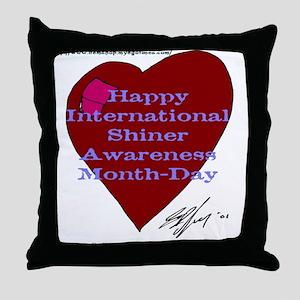 Shiner Awareness Throw Pillow