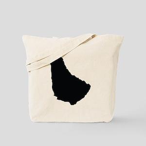 Barbados Silhouette Tote Bag