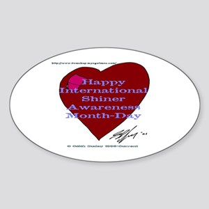 Shiner Awareness Oval Sticker