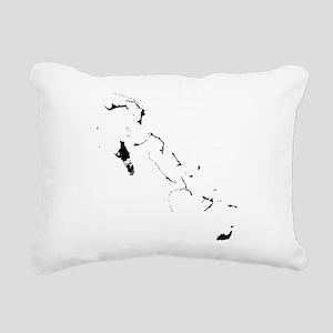Bahamas Silhouette Rectangular Canvas Pillow