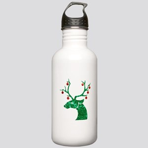 sequin christmas reind Stainless Water Bottle 1.0L