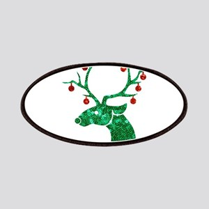 sequin christmas reindeer Patch