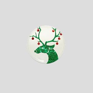 sequin christmas reindeer Mini Button