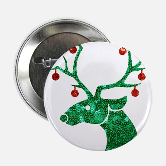 "sequin christmas reindeer 2.25"" Button (10 pack)"